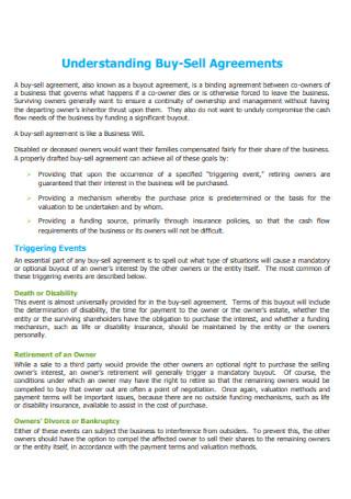Understanding Buy Sell Agreements