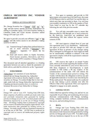 Vendor Security Agreement