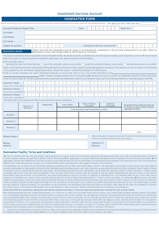 Account Nomination Form