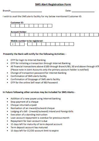 Alert Registration Form