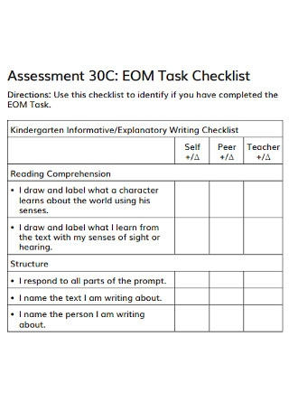 Assessment Task Checklist