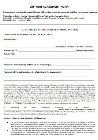 Author Agreement Form
