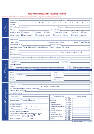 Authorization Request Form