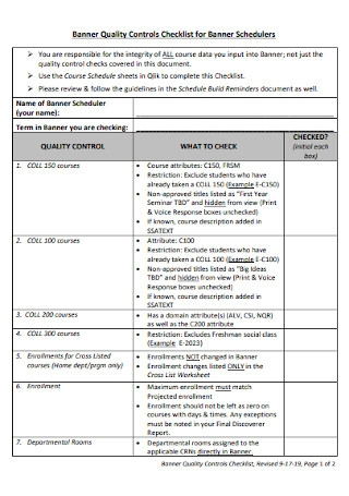 Banner Quality Checklist