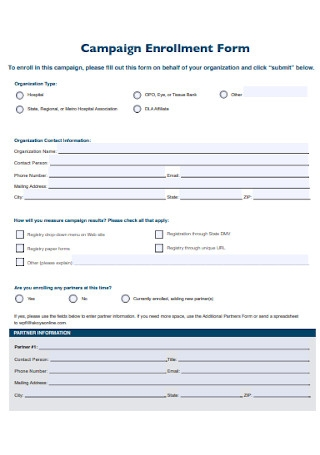 Campaign Enrollment Form