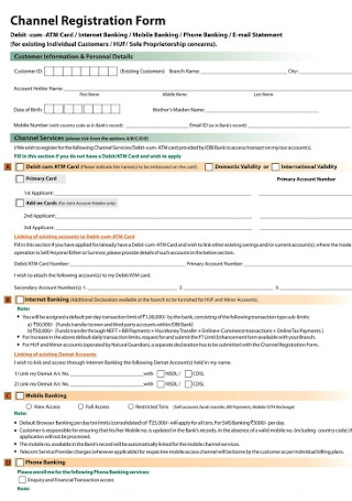 Channel Registration Form
