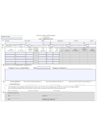 Civil Service Leave Application Form