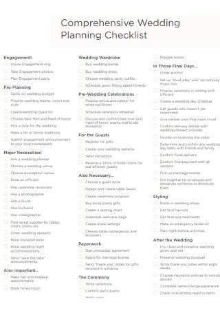 Comprehensive Wedding Planning Checklist