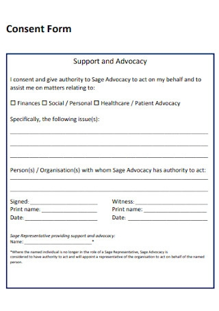 Consent Form Format