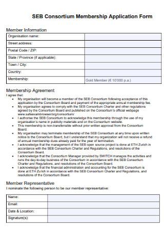 Consortium Membership Application Form