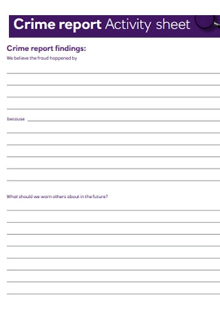 Crime Report Activity Sheet