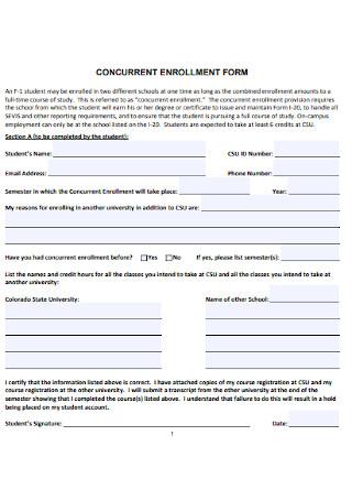 Cuncorrect Enrollment Form