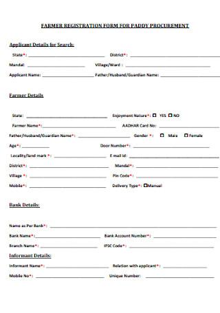 Farmer Registration Form