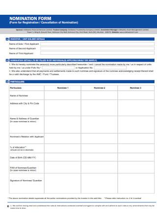 Fund Nomination Form