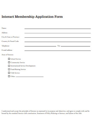 Interact Membership Application Form