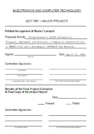 Major Project Approval Sheet