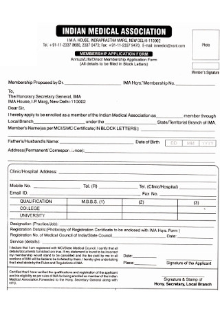 Medical Association Membership Form