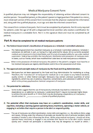 Medical Marijuana Consent Form