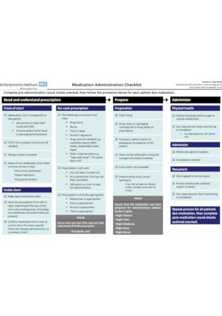 Medication Administration Checklist