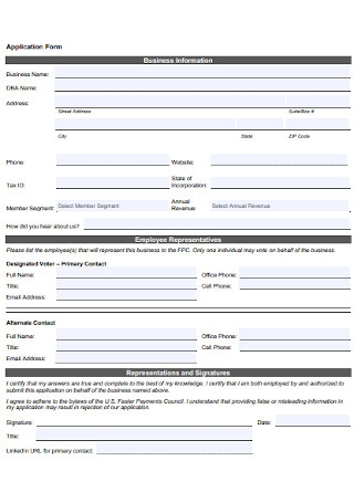 Membership Application Payment Form