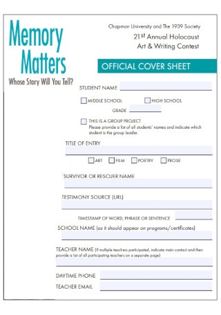 Official Cover Sheet