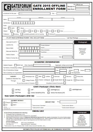 Offline Enrollment Form