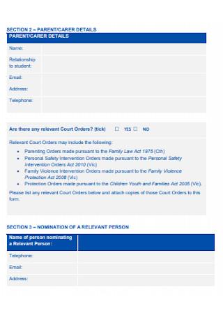 Person Nomination Form