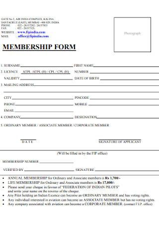 Poilots Membership Form
