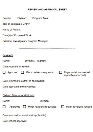 Reciew and Approval Sheet
