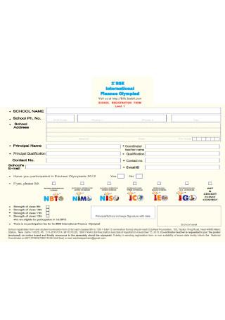 School Registration Form