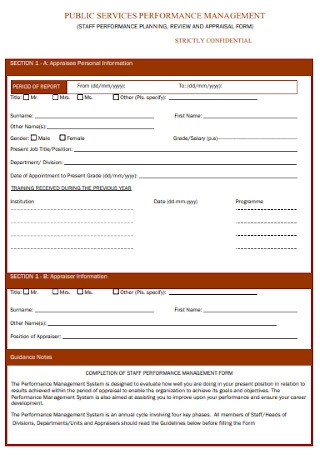 Staff Appraisal Form