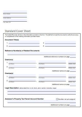 Standard Cover Sheet