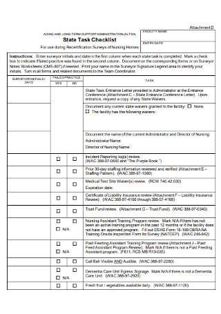 State Task Checklist