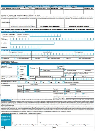 Systemativ Plan Enrollment Form