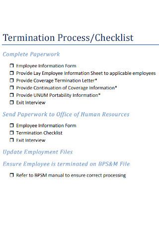 Termination Process Checklist