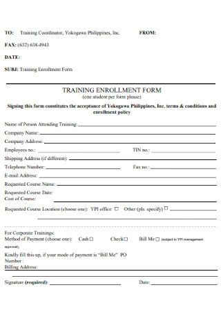 Training Enrollment Form