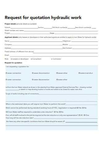 Work Quotationtion Form