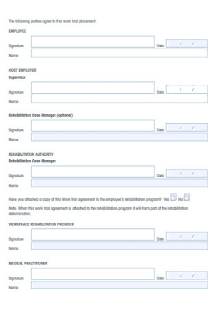 Work Trail Form Template