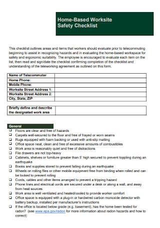 Worksite Safety Checklist