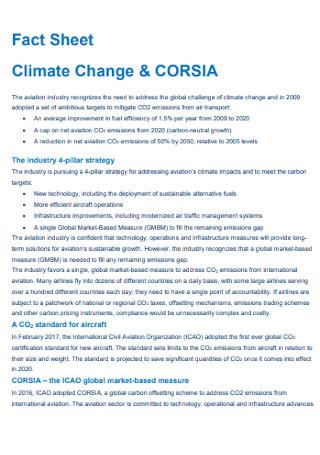 Climate Fact Sheet