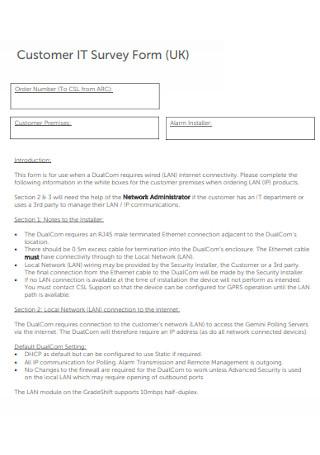 Customer IT Survey Form