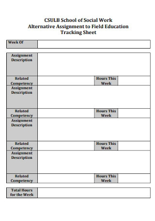 Education Tracking Sheet