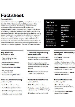 Fact Sheet Format