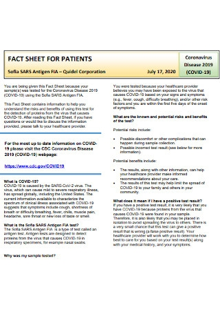 Fact Sheet for Patient