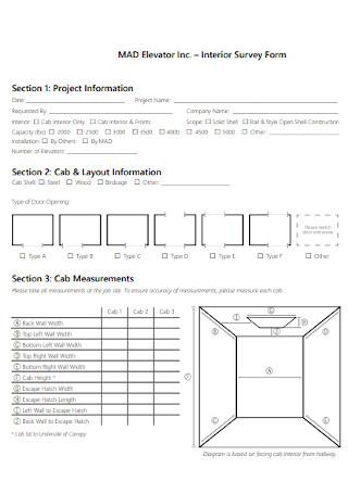 Interior Survey Form