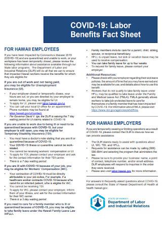 Labor Benefits Fact Sheet