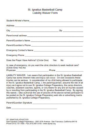 Liability Waiver Form