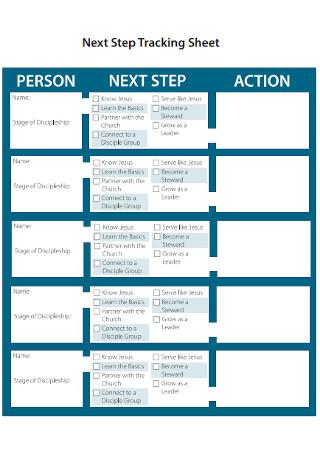 Next Step Tracking Sheet
