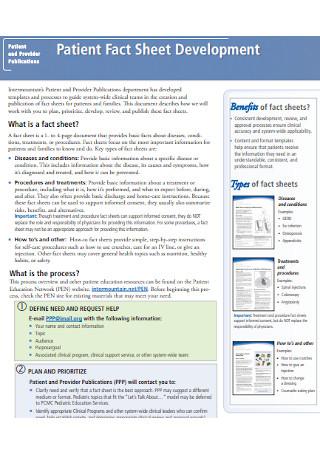 Patient Fact Sheet Development Template