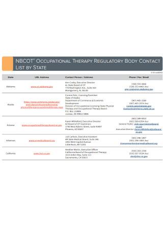 Printable Contact List Template
